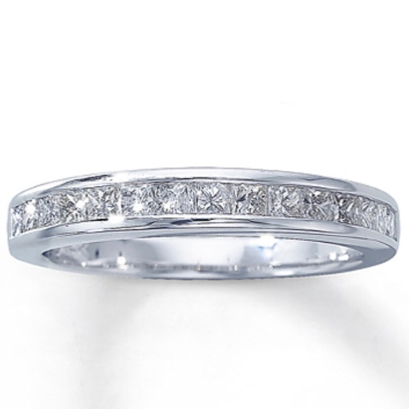 859907b5e Kay Jewelers Jewelry - Diamond Wedding Band Princess-cut 14K White Gold